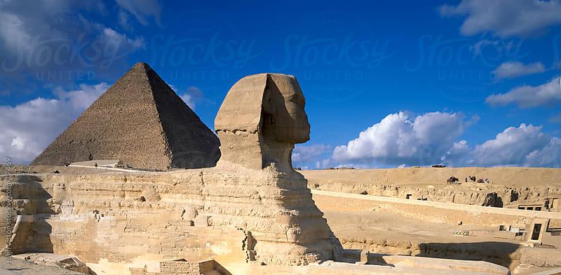 The Pyramids of Egypt. Giza. Egypt by Hugh Sitton for Stocksy United