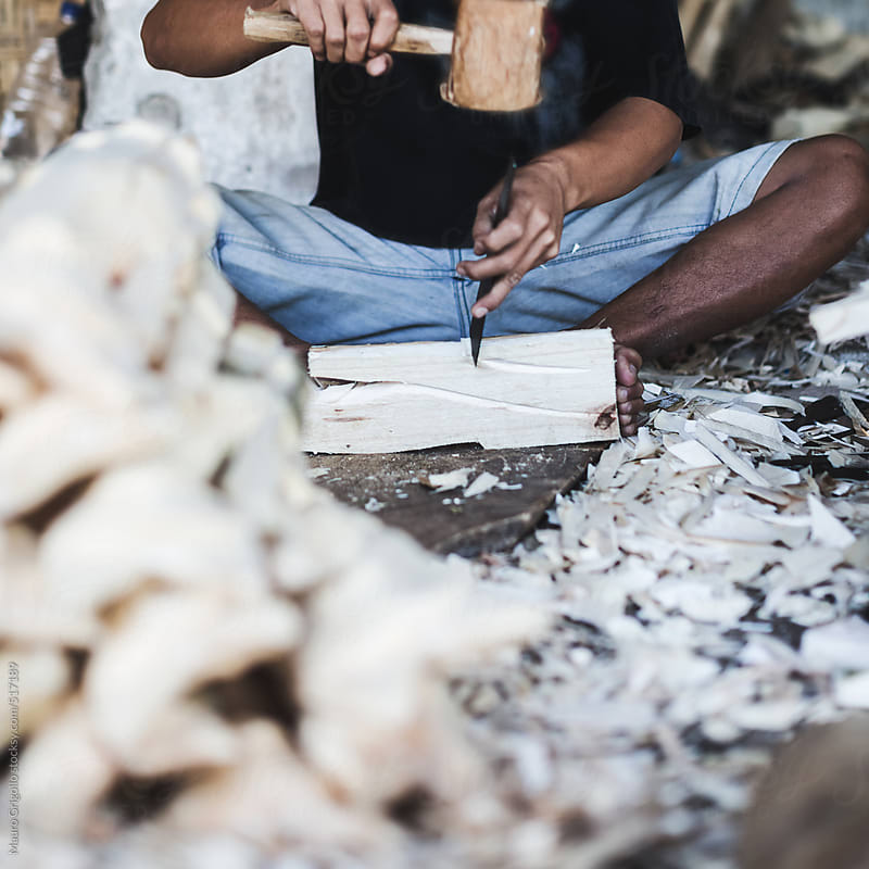 carpenter who produces wood carvings by Mauro Grigollo for Stocksy United