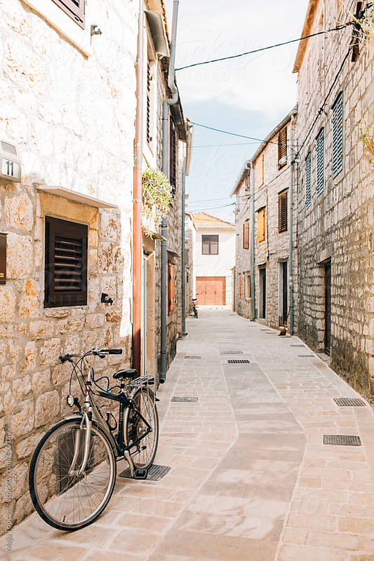 Streets in old town of island Hvar by Maja Topcagic for Stocksy United