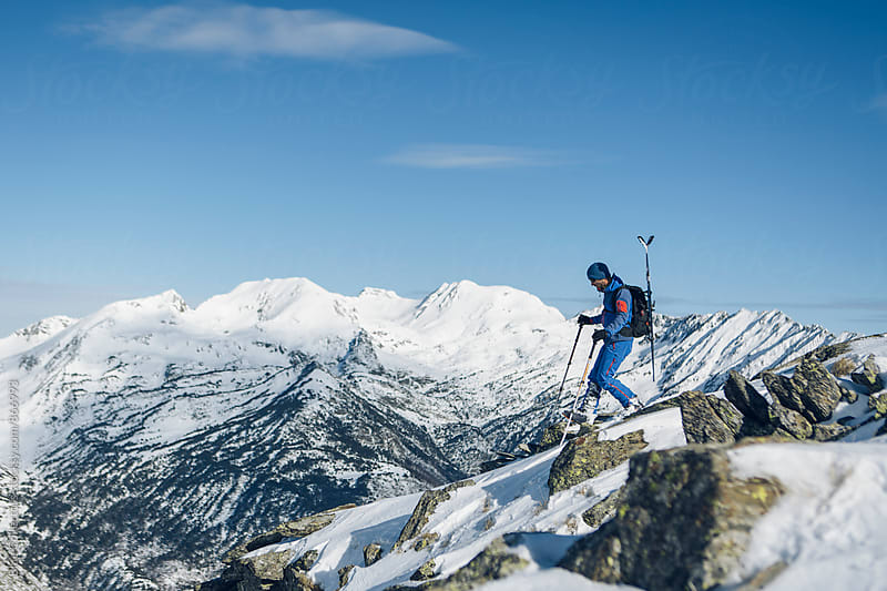Skier day in the mountains by Jordi Rulló for Stocksy United