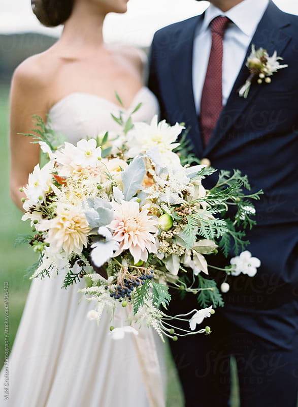 Fall wedding bouquet  by Vicki Grafton Photography for Stocksy United