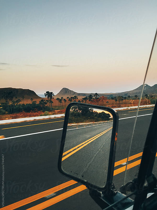 Driving Through Stunning National Park Landscape (Chapada dos Veadeiros, Brazilian State of Goias) by Julien L. Balmer for Stocksy United