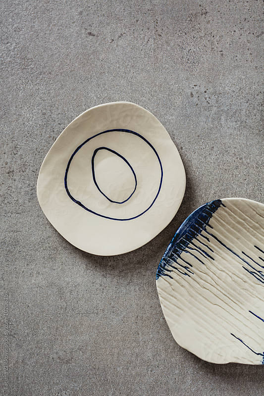 Artistic ceramic plates by Tatjana Zlatkovic for Stocksy United