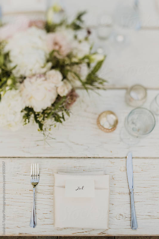 Rustic Table Setting by Isaiah & Taylor Photography for Stocksy United