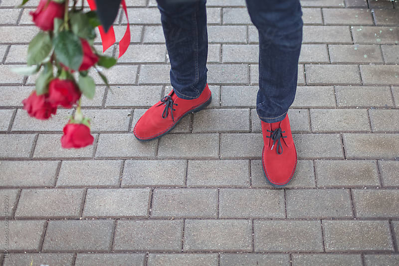 Red Shoes and Roses For St Valentin Date by HEX. for Stocksy United