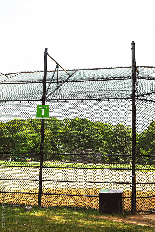 Baseball court in Central Park, Manhattan. by BONNINSTUDIO for Stocksy United