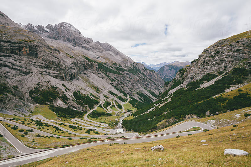 Mountain road on Italian Alps by Davide Illini for Stocksy United