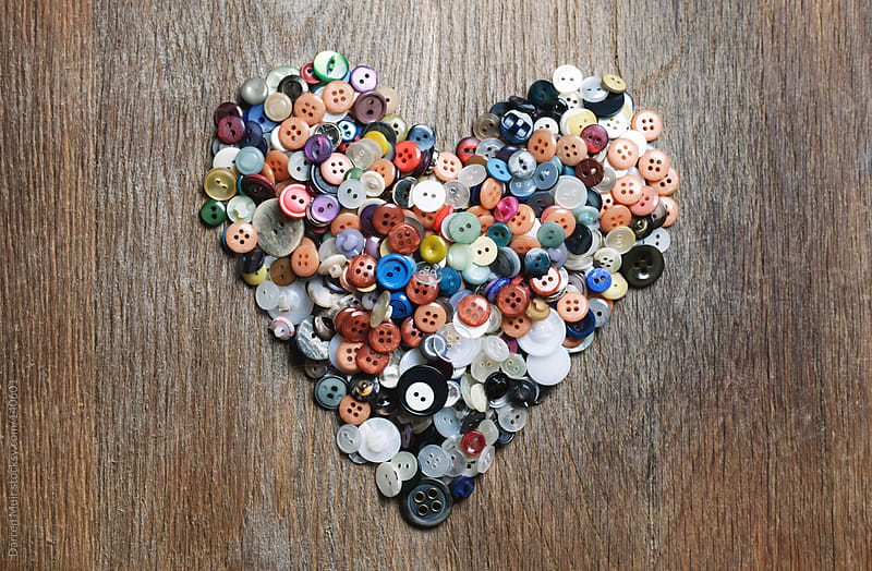 Button Heart.  by Darren Muir for Stocksy United
