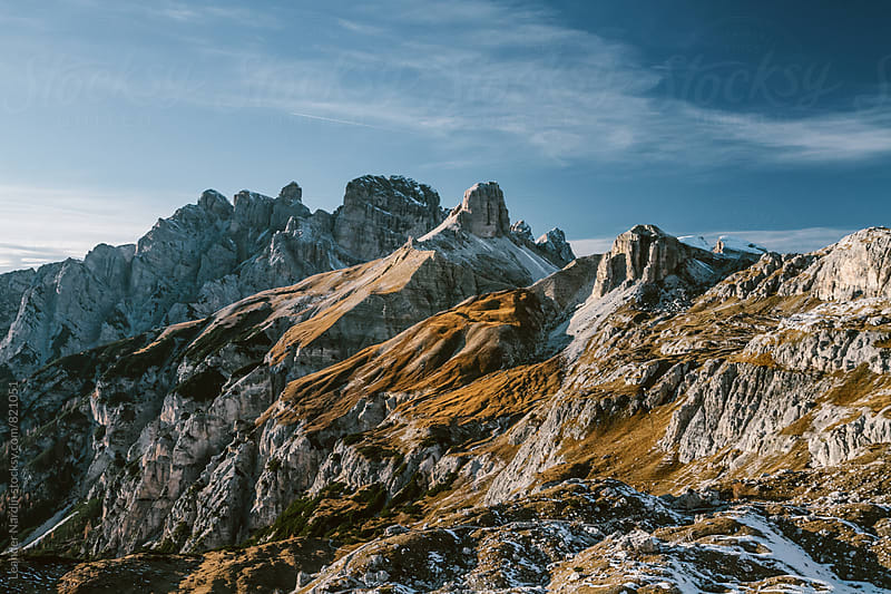 rough landscape in the italian alps by Leander Nardin for Stocksy United