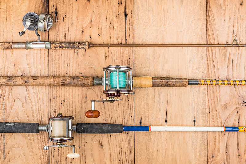 Vintage and Antique Fishing Rods by suzanne clements for Stocksy United