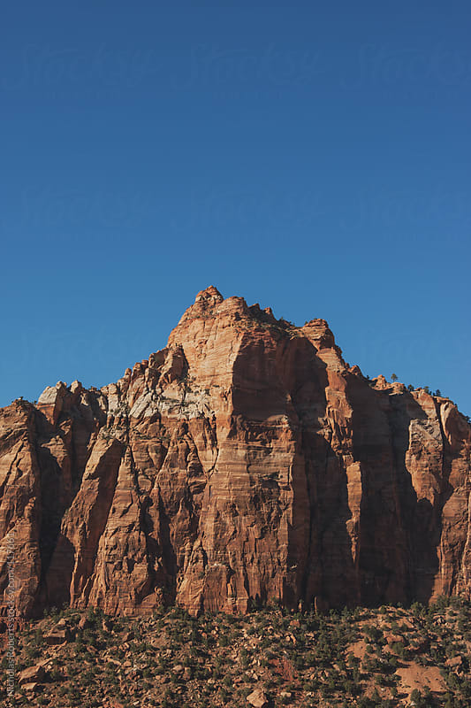 East Temple in Zion by Nicholas Roberts for Stocksy United