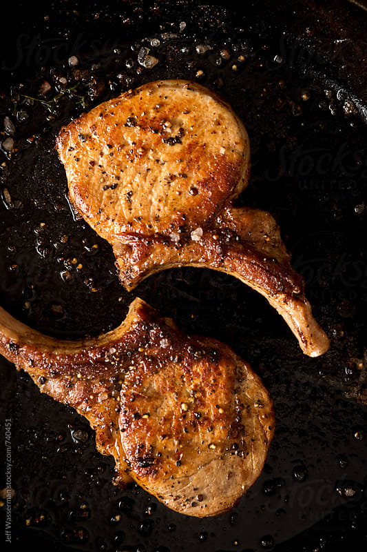 Cooked Pork Chops in Skillet by Studio Six for Stocksy United