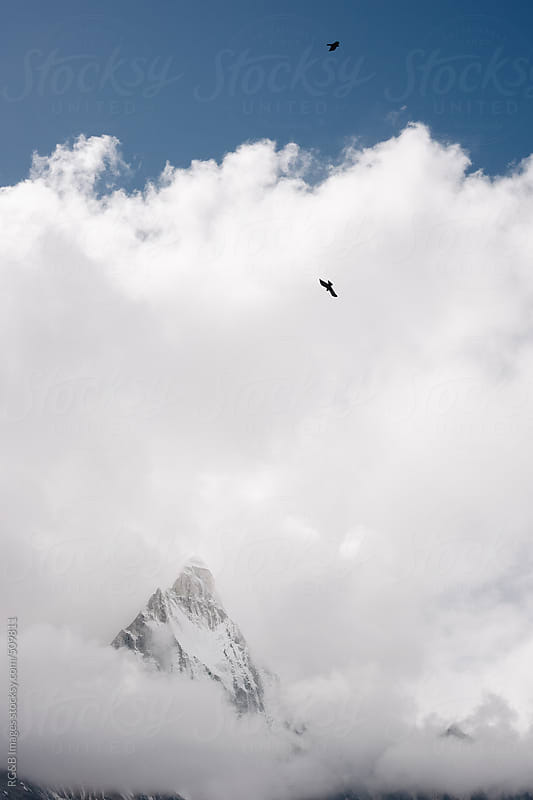 peak in the clouds by RG&B Images for Stocksy United