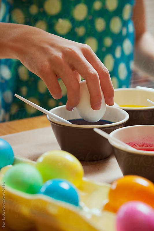 Easter: Ready To Dye Egg Blue by Sean Locke for Stocksy United