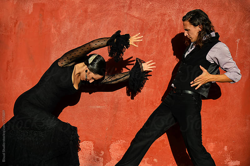 Professional flamenco dancers in Granada by Bisual Studio for Stocksy United