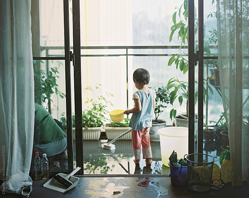 Girls in daily life,at home by ChaoShu Li for Stocksy United