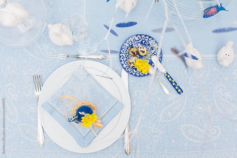 Easter Table Decoration by Borislav Zhuykov for Stocksy United