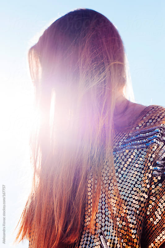 Sunshine in hair by Aleksandra Kovac for Stocksy United