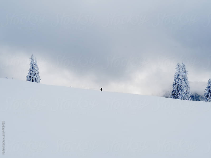 ski touring skiing winter landscape by rolfo for Stocksy United