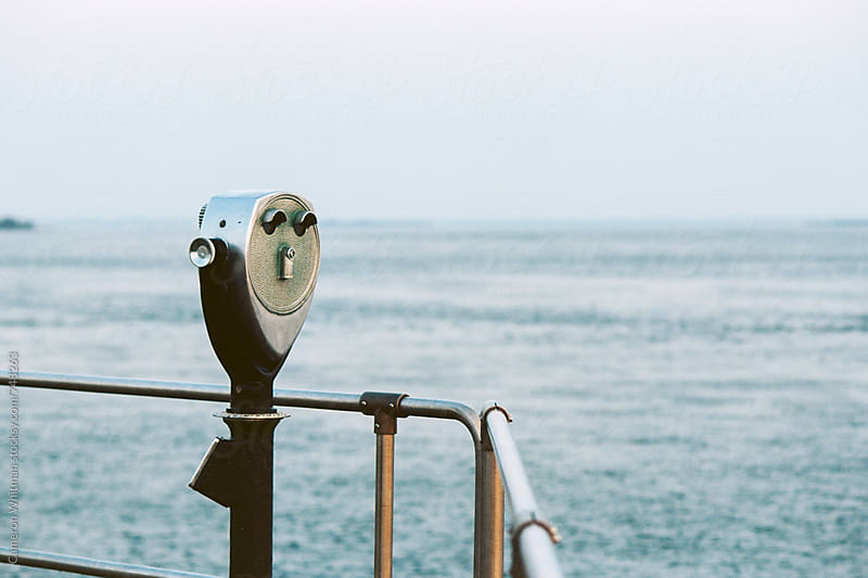 Coin Operated View Finder on a Jersey Shore Jetty by Cameron Whitman for Stocksy United