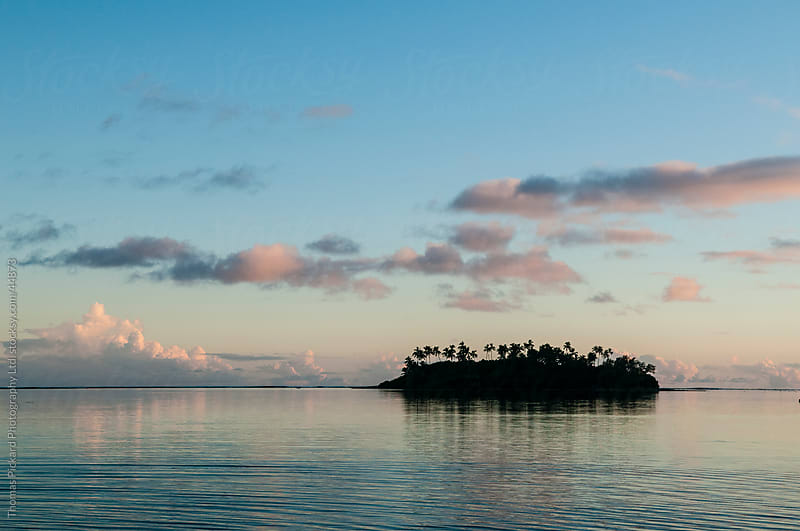 Tropical island at sunset, Rarotonga Island, Cook Islands. by Thomas Pickard Photography Ltd. for Stocksy United