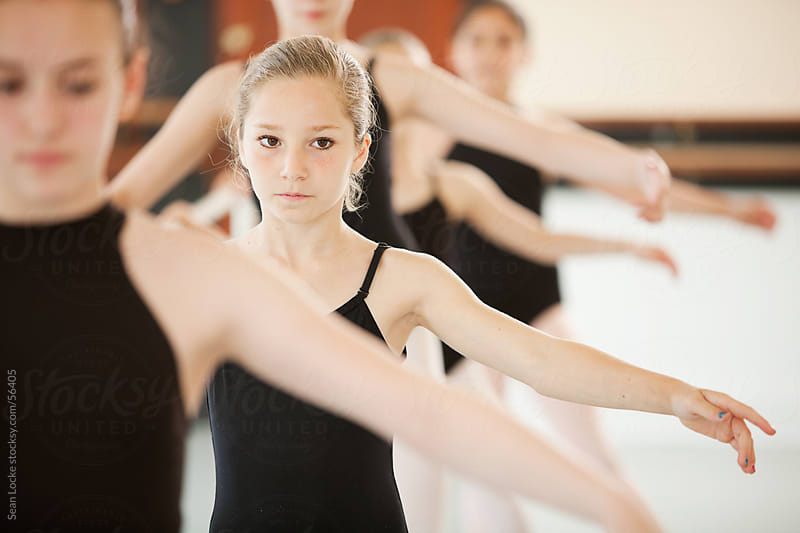 Ballet: Young Girl Doing Balance Exercises by Sean Locke for Stocksy United