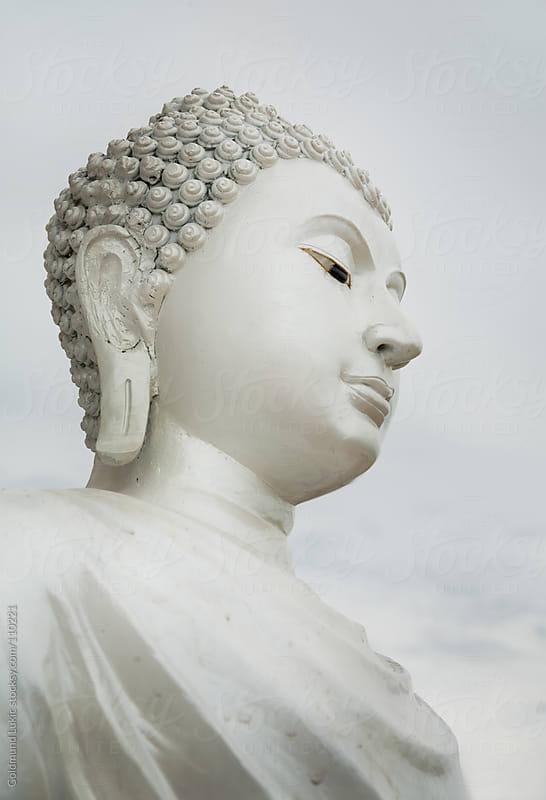 White Buddha Statue by Goldmund Lukic for Stocksy United