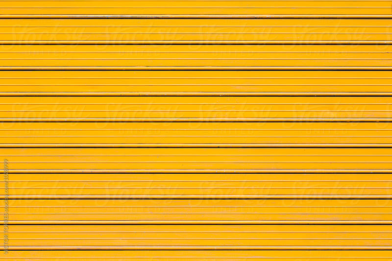 Yellow Metallic Stripped Background by VICTOR TORRES for Stocksy United