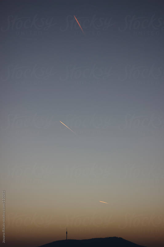 Airplanes in the sky by Jovana Rikalo for Stocksy United