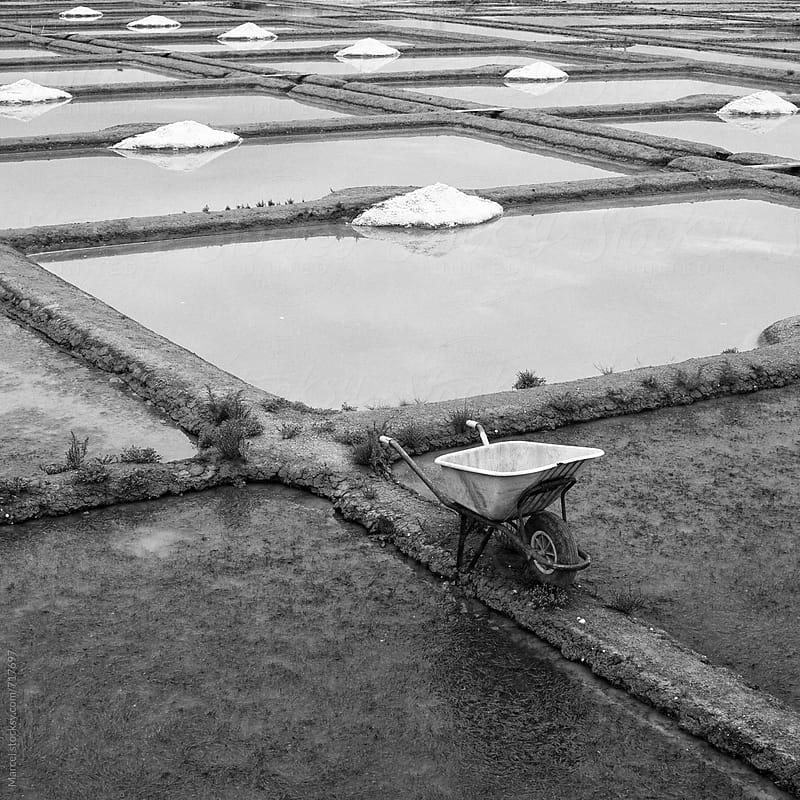 Sea salt basins in Bretagne by Marcel for Stocksy United
