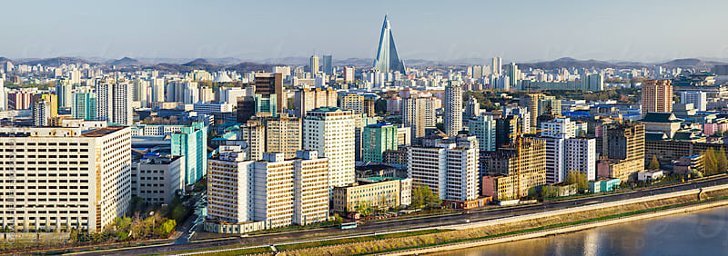 Democratic Peoples's Republic of Korea (DPRK), North Korea, Pyongyang and the river Taedong by Gavin Hellier for Stocksy United