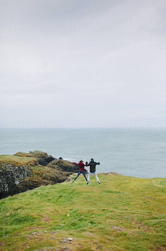 Young Couple Visiting Ireland Together by HEX. for Stocksy United
