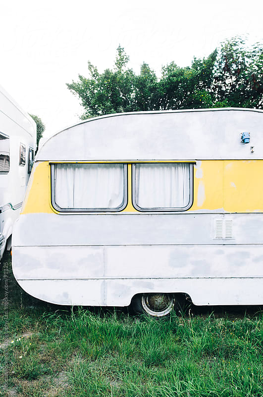 Old style caravan at Gore Bay, New Zealand. by Thomas Pickard for Stocksy United