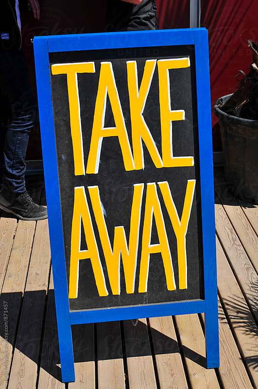 take away by juan moyano for Stocksy United