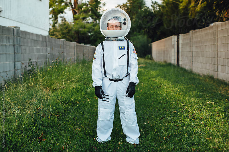 Astronaut Portrait  by Addie Mannan Photography for Stocksy United