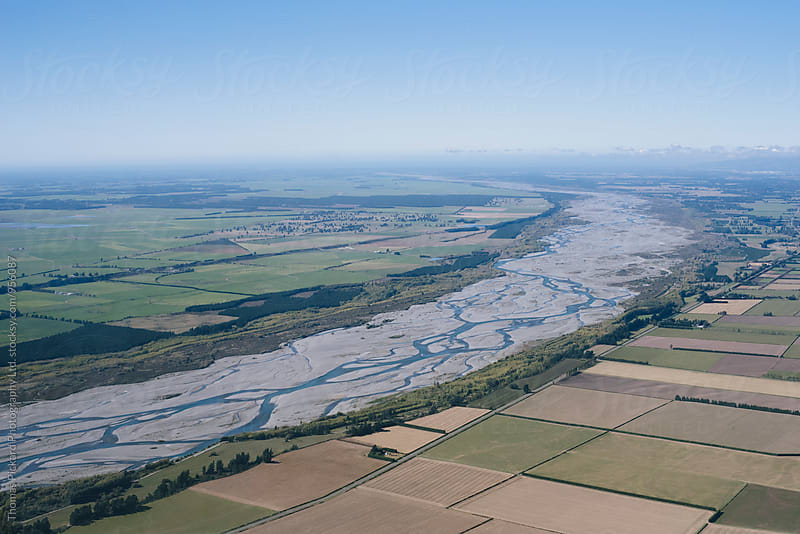 The Waimakariri River looking east, Canterbury Plains, New Zealand. by Thomas Pickard for Stocksy United