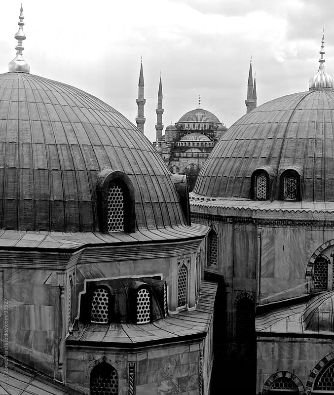 The Blue Mosque seen from the Ayasofya by Freek Zonderland for Stocksy United