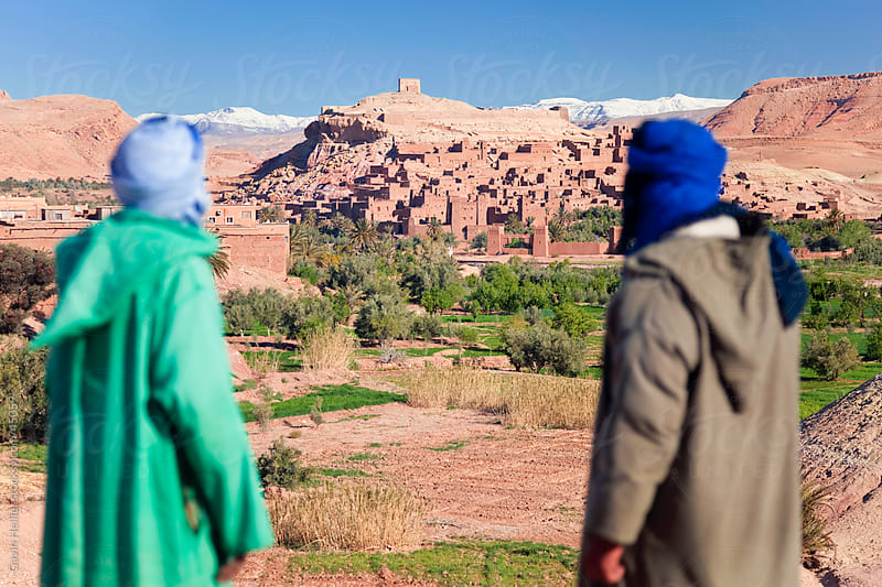 Ancient Kasbah town of Ait Benhaddou, Atlas mountains, Morocco, North Africa by Gavin Hellier for Stocksy United