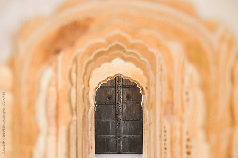 Indian Door With Archways, Rajasthan by Alexander Grabchilev for Stocksy United