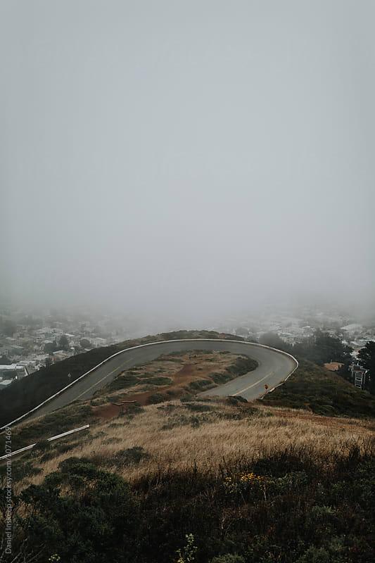 Foggy Twin Peaks Area in San Francisco by Daniel Inskeep for Stocksy United