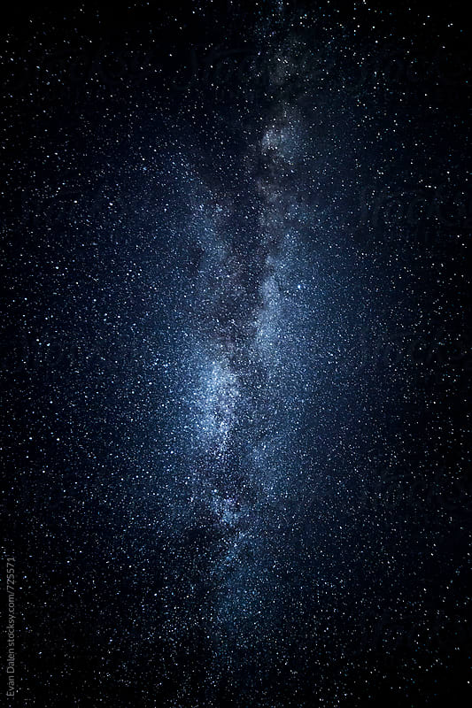 Blue Milky Way Galaxy  by Evan Dalen for Stocksy United