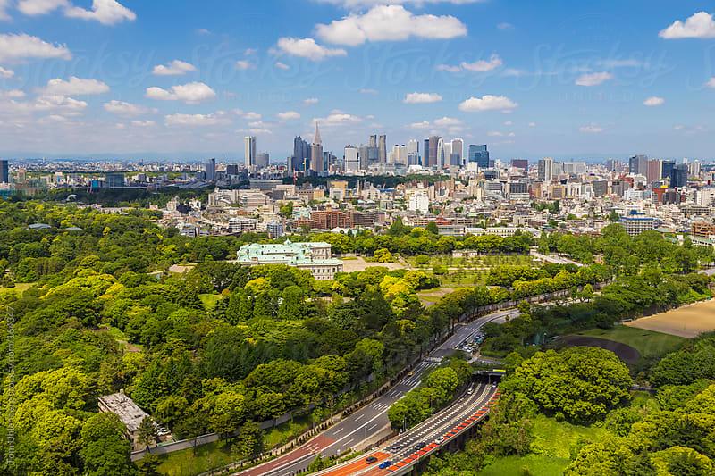 Shinjuku Skyline as Seen from Central Tokyo, Japan by Tom Uhlenberg for Stocksy United