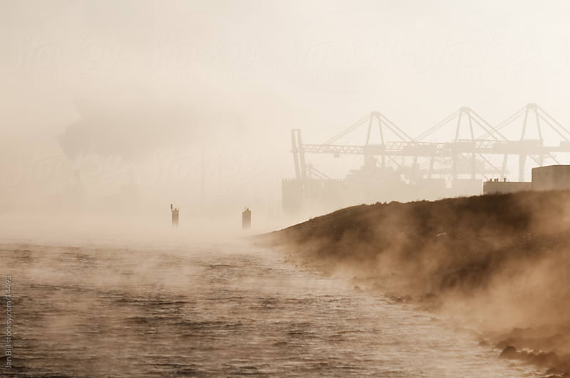 fog over the river Maas, the netherlands by Jan Bijl for Stocksy United