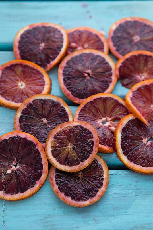 Blood Orange Slices 2.  by Aniko Lueff Takacs for Stocksy United