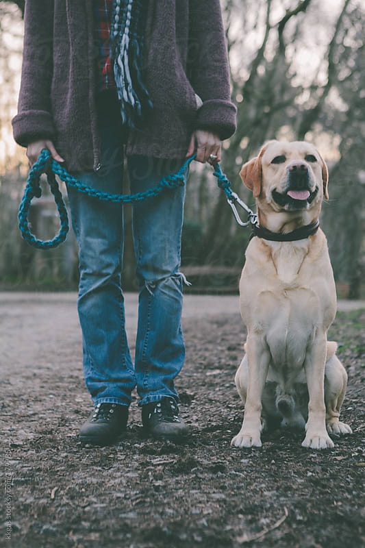 Dog and owner. by kkgas for Stocksy United