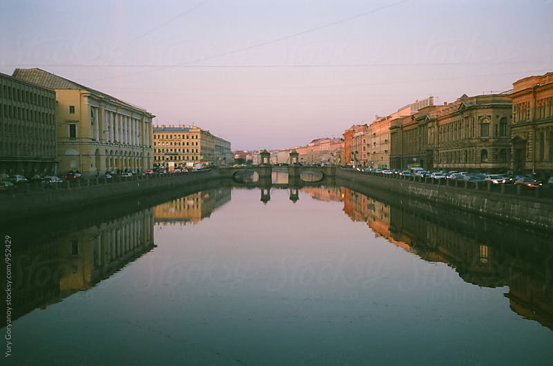 View of the Fontanka River by Yury Goryanoy for Stocksy United
