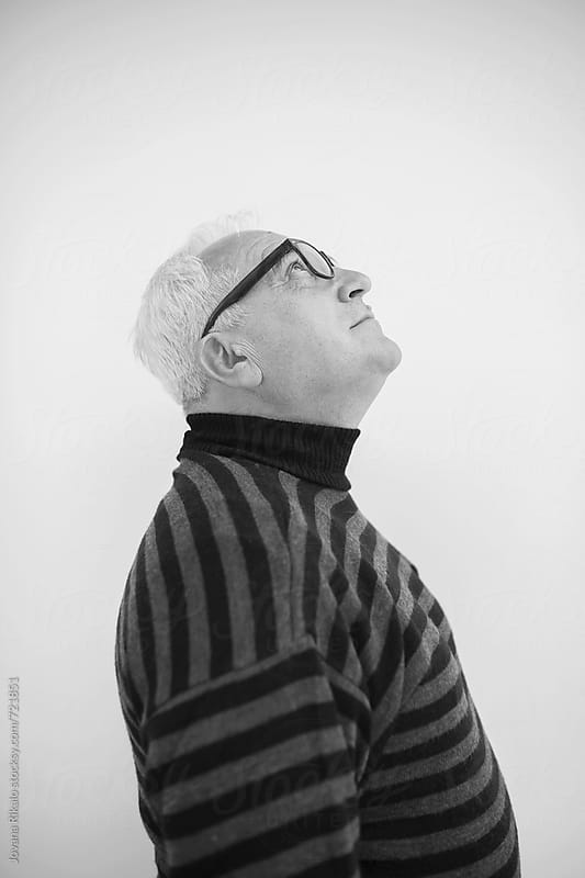 Black and white photo of an elderly man by Jovana Rikalo for Stocksy United