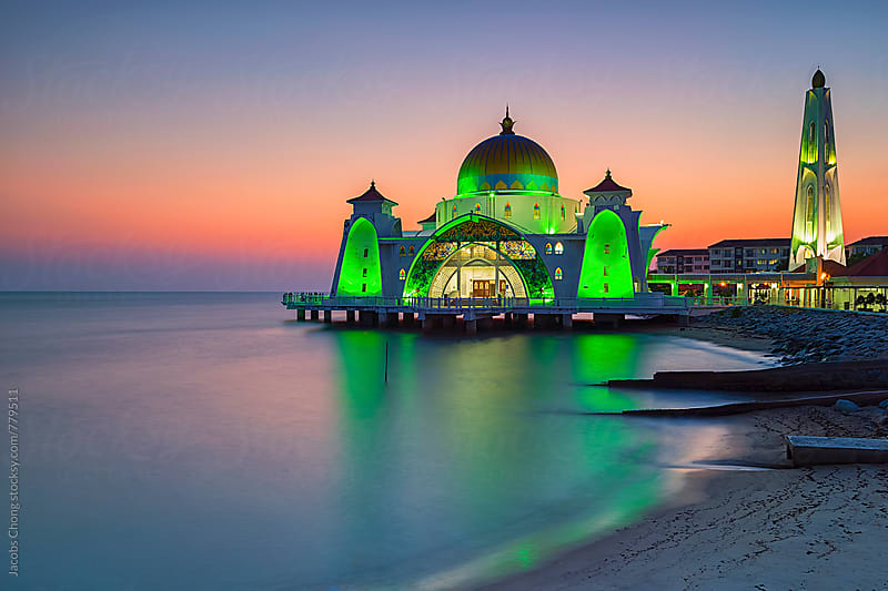Malacca Straits Mosque by Jacobs Chong for Stocksy United