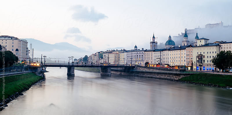Salzach River, Salzburg, Austria by Gary Radler Photography for Stocksy United