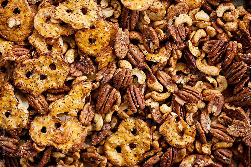 Nuts: Chipotle Spiced Roasted Pecans And Cashews With Bacon by Sean Locke for Stocksy United